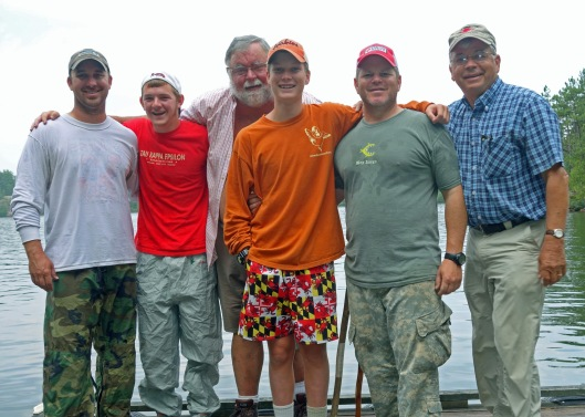 From left to right, Jeff, Ethan, Don, James, John, and Jim