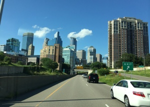 Minneapolis/St. Paul skyline: Location of the 2014 National BMW Rally.
