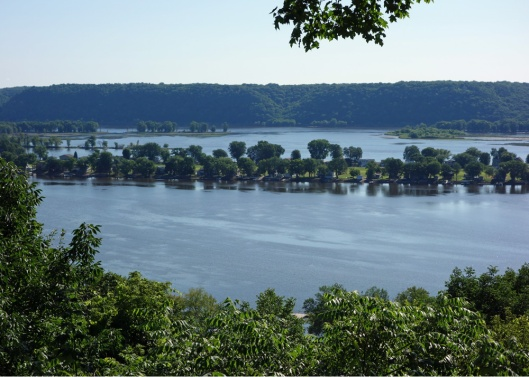 View of the Mississippi River at Guttenberg, IA.