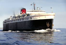 The SS Badger, only coal-fired steam ship operating on the Great Lakes.