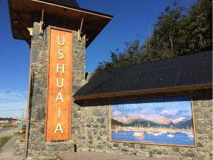 Gate to the city of Ushuaia, Argentina
