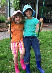 Granddaughters Helen (age 4) and Clara (age 7).