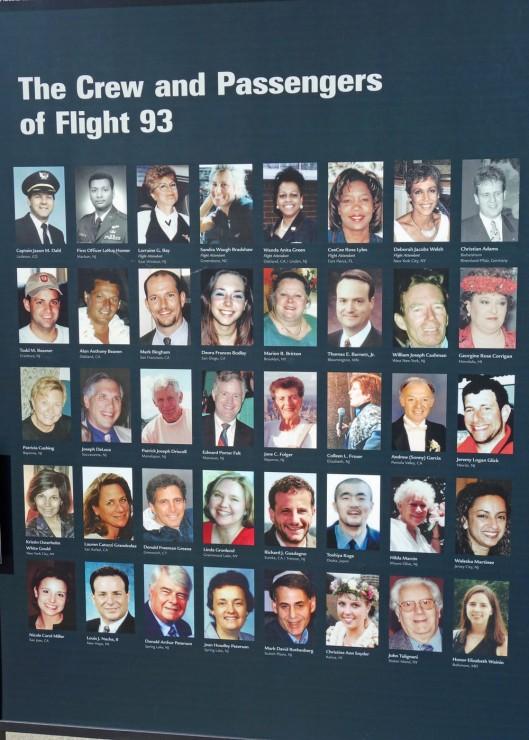 The Crew and passengers of Flight 93
