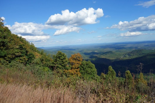 Some hills and valleys of eastern Tennessee.