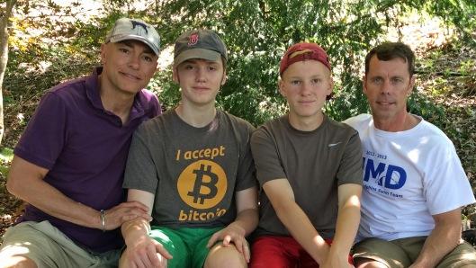 Michael, Max, Kyle, and Brent visiting Blacksburg