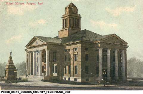 Dubois County Courthouse, Jasper (Indiana Historical Society).