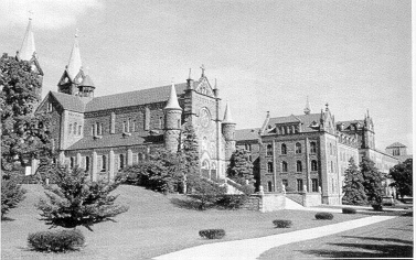 St. Meinrad Archabbey and Seminary, one of two beautiful Benedictine monasteries nested in the hills of southern Indiana, founded as a priory in 1854.