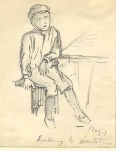 Pencil sketch by H. Llewellyn Smith.