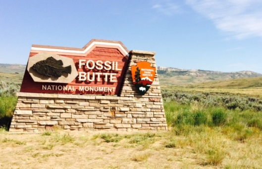 Fossil Butte Sign
