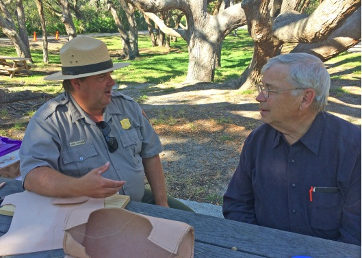 Jim with Grant from Park Service